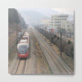 South Korea Photography - South Korean Train Metal Print