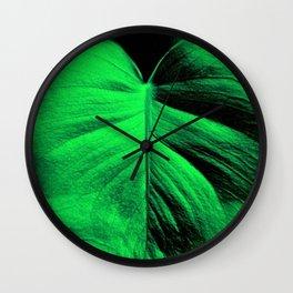 Monstera Leaves Wall Clock