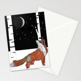 Pondering Fox Stationery Cards