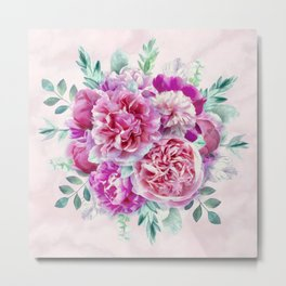 Beautiful soft pink peonies Metal Print