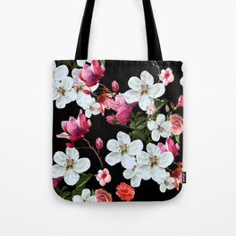 Apple Blossom at Midnight Tote Bag