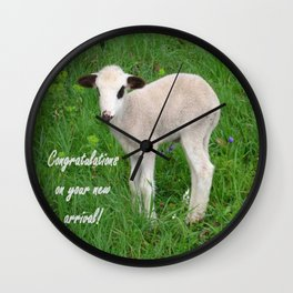 Congratulations On Your New Arrival Wall Clock