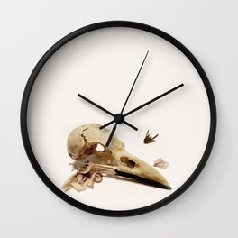 Bird & Orchid Wall Clock