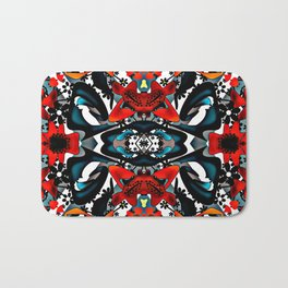 Colorful , abstract pattern Bath Mat