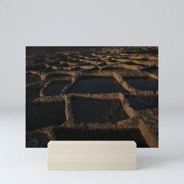 Xlendi's Salt-pans. Mini Art Print