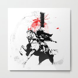 Samurai Japan Metal Print