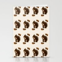 squirrel Stationery Cards featuring Squirrel by Heaven7