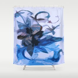 Winter Flowers in an Artic Storm Frozen in Time and Space Shower Curtain