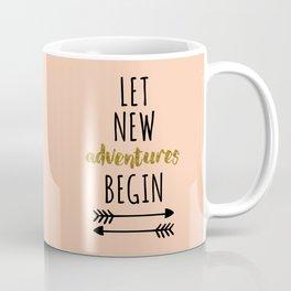 New Adventures Travel Quote Coffee Mug