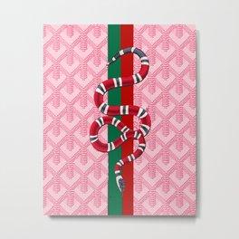 Goyard Pink Guci Snake Metal Print