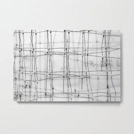 Winter Weave Metal Print