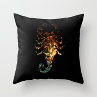 drive Throw Pillows featuring Drive by Carlo Spaziani