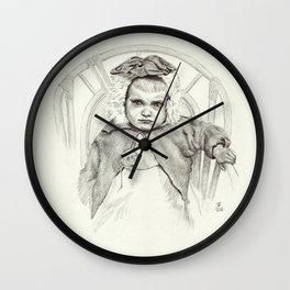 Baby Girl Is Not Impressed Wall Clock