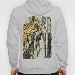 tree branch african safari animal leopard Hoody