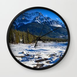 Mount Kerkeslin in Jasper National Park, Alberta Wall Clock