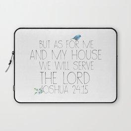 joshua 24:15 Laptop Sleeve