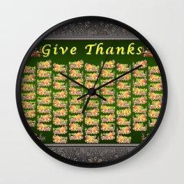 Give Thanks Wall Clock