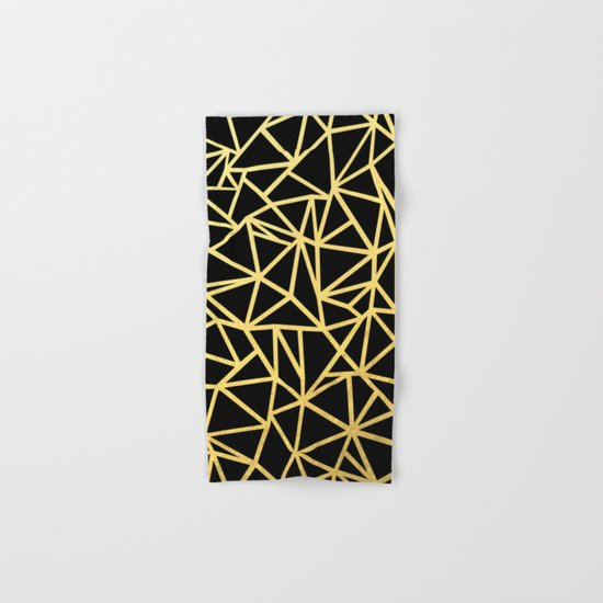 Abstract Outline Thick Gold Hand & Bath Towel