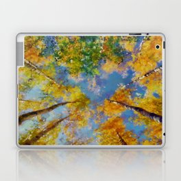 Fall trees in the sky Laptop & iPad Skin