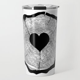 Heart Tree Rings Travel Mug