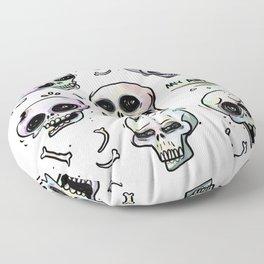 Anxiety Skulls Floor Pillow