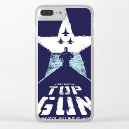 TOP GUN 1980 Poster Modified Clear iPhone Case