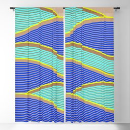 Happy Times - Neon Waves Blackout Curtain
