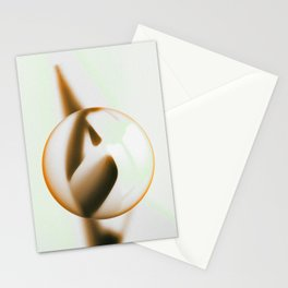 Mint-Brown Glass Ball Stationery Cards