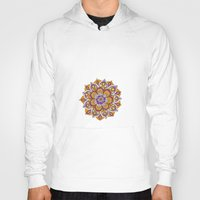 hippy Hoodies featuring Hippy Mandala - Orange Edition by Ciro Design