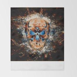 Skull Origins Throw Blanket