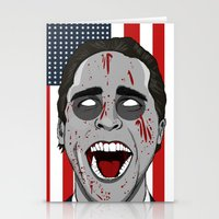 mcfreshcreates Stationery Cards featuring Psycho Americana by McfreshCreates