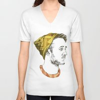 indie V-neck T-shirts featuring Indie Boy by Anne Dippy