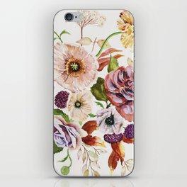 Fall Poppy Bouquet iPhone Skin