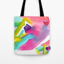 Follow Your Heart - watercolor abstract minimalism modern art Tote Bag