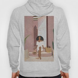 Woman sitting on the porch Hoody