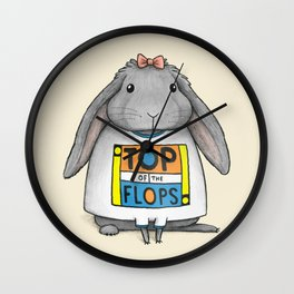 Top of the Flops Wall Clock