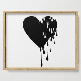 Bleeding Black Heart Serving Tray