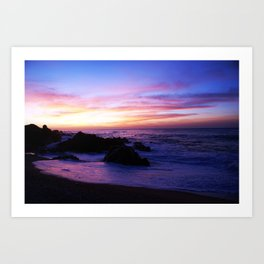 Beautiful sunrise in Los Cabos Mexico Art Print