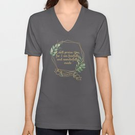 Christian Bible Verse Typography Quote Unisex V-Neck
