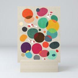 Lotus in koi pond Mini Art Print