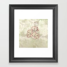 The temple bell stops but I still hear the sound coming out of the flowers. Framed Art Print