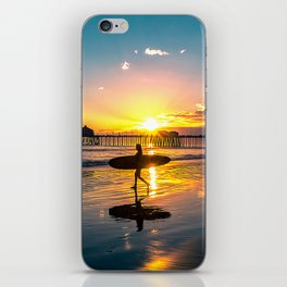 Surf City USA - Little Surfer Girl iPhone Skin