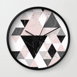 Triangle pattern modern geometric abstract ll Wall Clock
