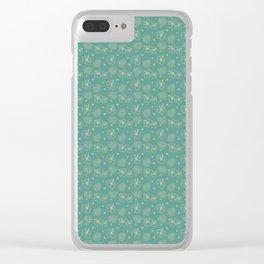 Summer Wallpaper Pattern Clear iPhone Case