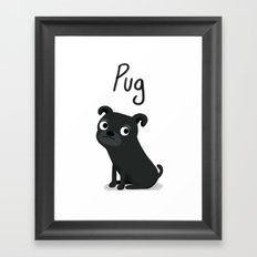 Pug - Cute Dog Series Framed Art Print