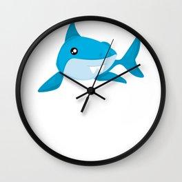 Friendly Sharks Bucktooth Shark Wall Clock