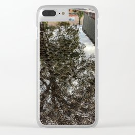 Reflection of tree Clear iPhone Case