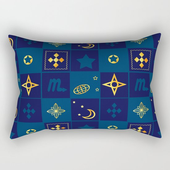 Night Waltz of the planets. Rectangular Pillow
