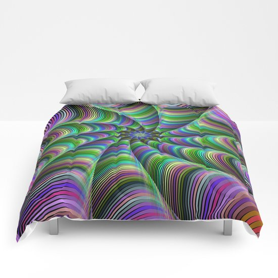 Striped tentacles Comforters