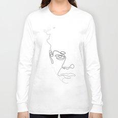 Half-a-Basquiat: One line Long Sleeve T-shirt